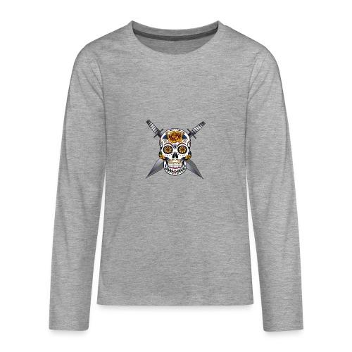 Cross skull swords - T-shirt manches longues Premium Ado