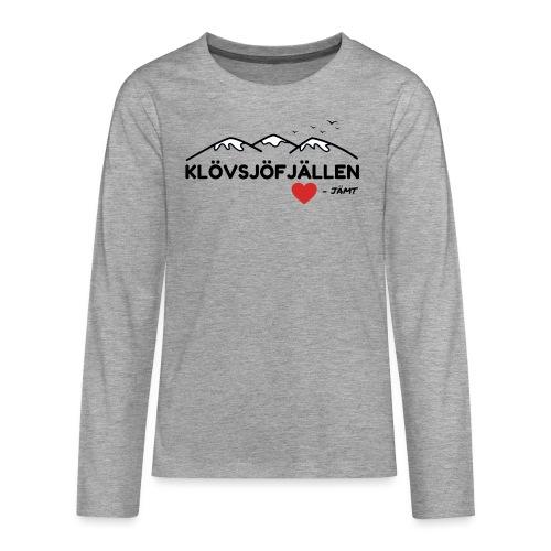 Klövsjöfjällen - Långärmad premium T-shirt tonåring