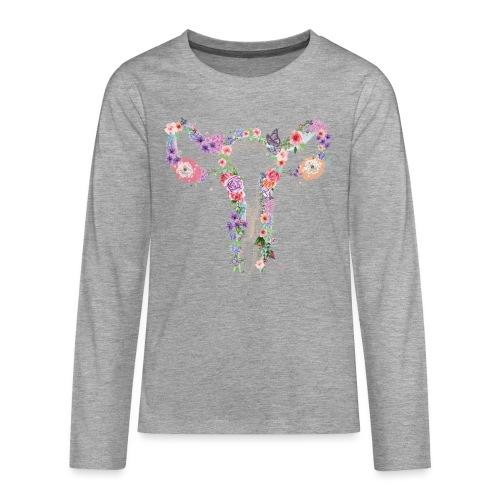 Blumen Uterus - Teenager Premium Langarmshirt