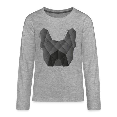 Geometric Frenchie black - Französische Bulldogge - Teenager Premium Langarmshirt