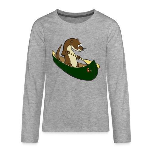 greencanoewithsticker - Teenagers' Premium Longsleeve Shirt