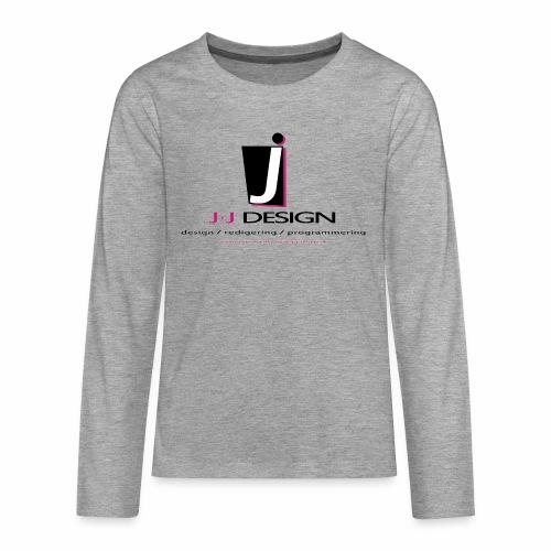 LOGO_J-J_DESIGN_FULL_for_ - Teenager premium T-shirt med lange ærmer