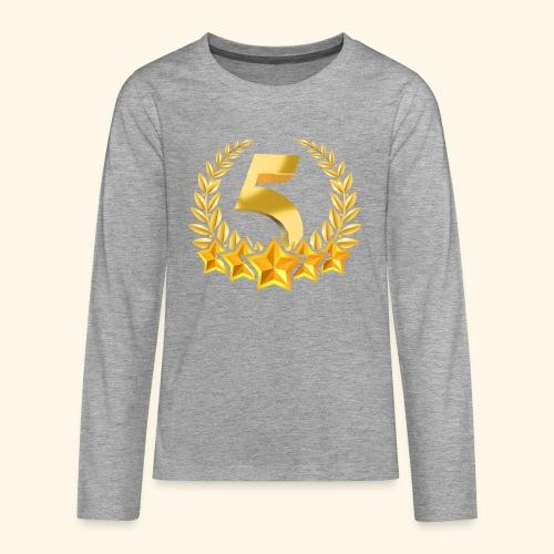 Fünf-Stern 5 sterne - Teenager Premium Langarmshirt