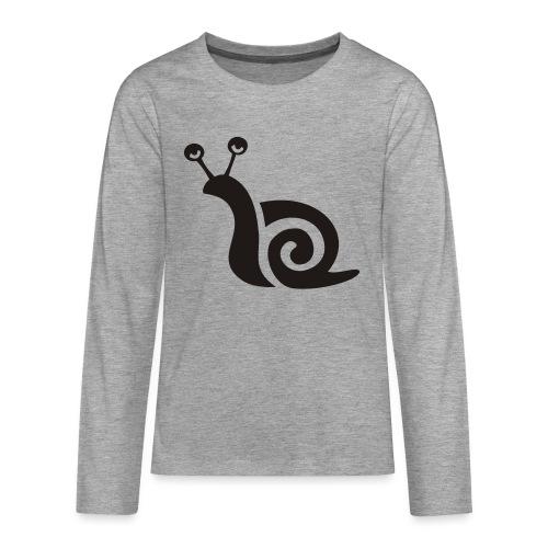 schnecke - Teenager Premium Langarmshirt