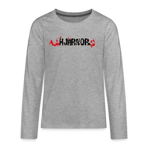 Hjärnor logo svart - Långärmad premium T-shirt tonåring