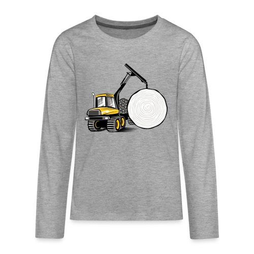 Kuormatraktori t paidat, hupparit, lahjatuotteet - Teinien premium pitkähihainen t-paita