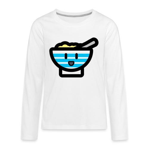 Cute Breakfast Bowl - Teenagers' Premium Longsleeve Shirt