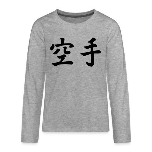 karate - Teenager Premium shirt met lange mouwen