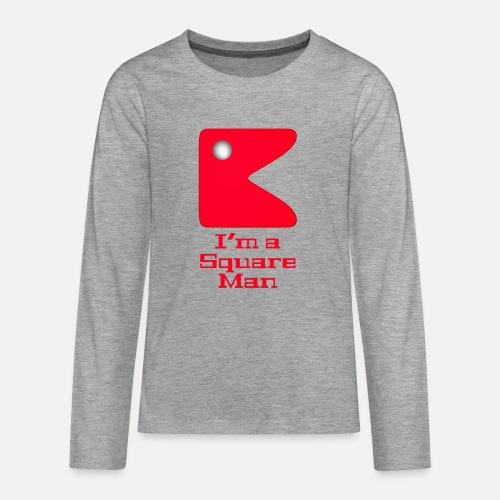 Square man red - Teenagers' Premium Longsleeve Shirt