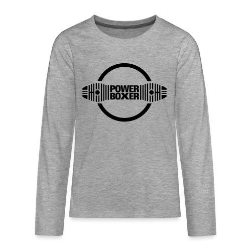 Motorrad Fahrer Shirt Powerboxer - Teenager Premium Langarmshirt