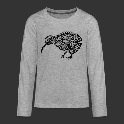 Kiwi Maori - Teenager Premium Langarmshirt