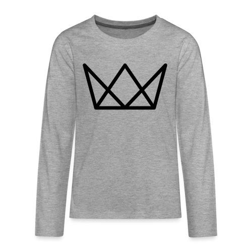 TKG Krone schwarz CMYK - Teenager Premium Langarmshirt