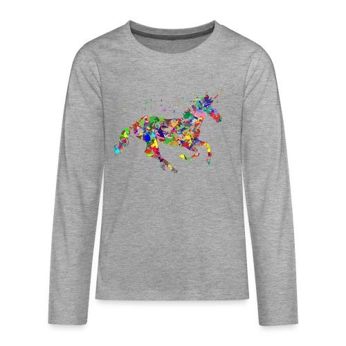 Einhorn - Teenager Premium Langarmshirt