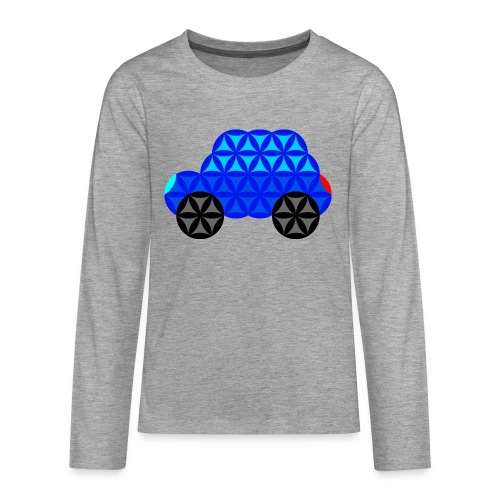 The Car Of Life - M01, Sacred Shapes, Blue/R01. - Teenagers' Premium Longsleeve Shirt
