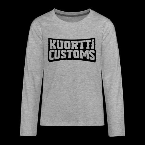 kuortti_customs_logo_main - Teinien premium pitkähihainen t-paita