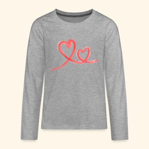 Duo Cœur Main levée - Saint Valentin - T-shirt manches longues Premium Ado