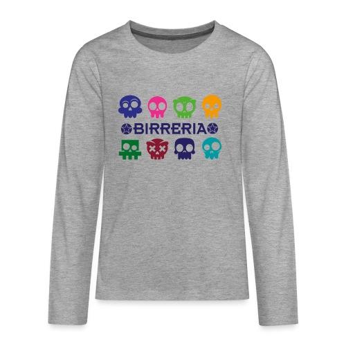 Kids color Skulls - Teenager Premium Langarmshirt