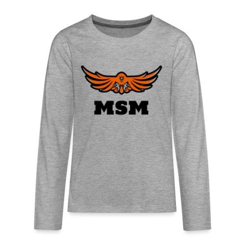 MSM EAGLE - Teenager premium T-shirt med lange ærmer