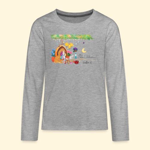 Tout à coup, le temps a considérablement ralenti - T-shirt manches longues Premium Ado