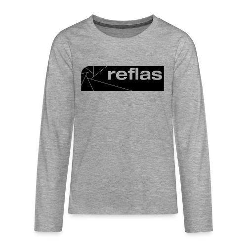 Reflas Clothing Black/Gray - Maglietta Premium a manica lunga per teenager