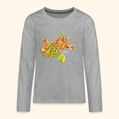 Trompetenbaum Blüten von S.A.R.A. - Teenager Premium Langarmshirt
