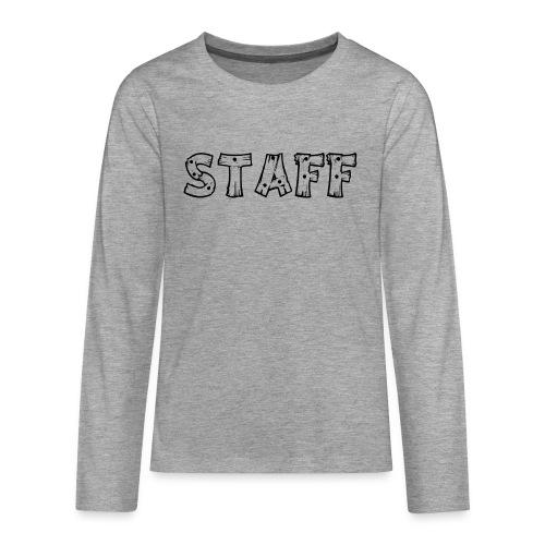 STAFF - Maglietta Premium a manica lunga per teenager