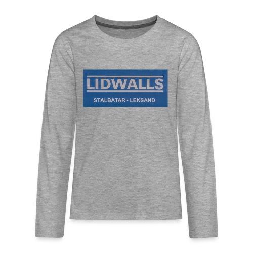 Lidwalls Stålbåtar - Långärmad premium T-shirt tonåring