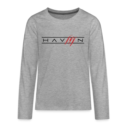 Logo Zwart - Teenager Premium shirt met lange mouwen