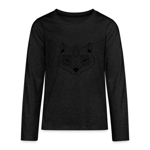 mandalafox - Teinien premium pitkähihainen t-paita