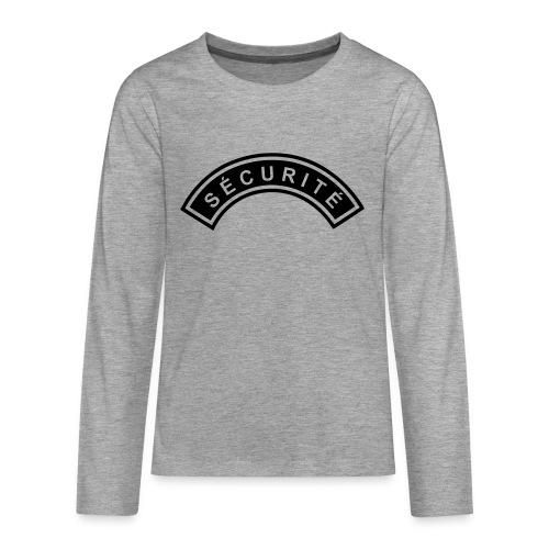 Ecusson Sécurité demilune - T-shirt manches longues Premium Ado