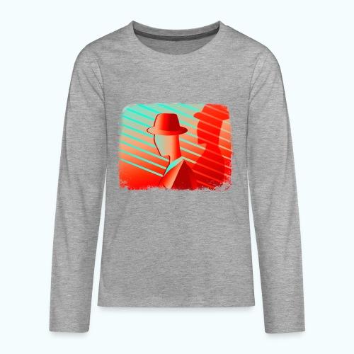 Men In Red Vintage 80s - Teenagers' Premium Longsleeve Shirt