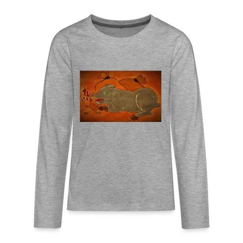 Ahneus - Teinien premium pitkähihainen t-paita