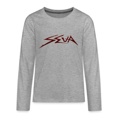 SEUA logo Speedy red - Långärmad premium T-shirt tonåring