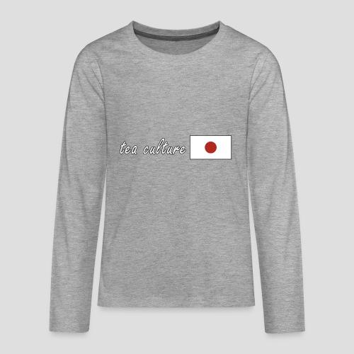 tea culture - Nihon - Teenager Premium Langarmshirt