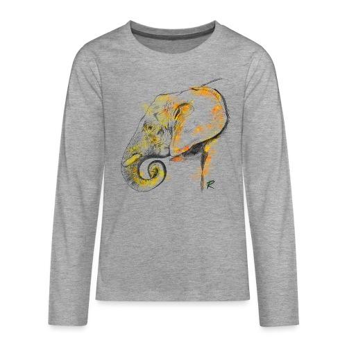 Elephant 2 color - Maglietta Premium a manica lunga per teenager