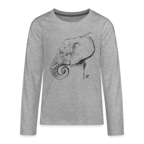 elephant - Maglietta Premium a manica lunga per teenager