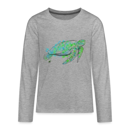 Sea turtle color - Maglietta Premium a manica lunga per teenager