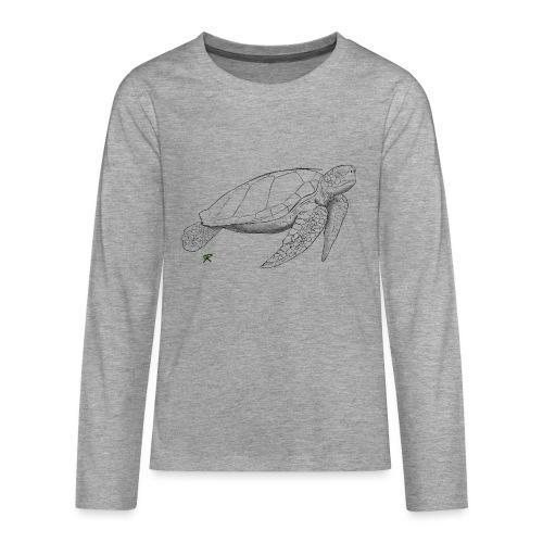 Sea turtle sketch - Maglietta Premium a manica lunga per teenager