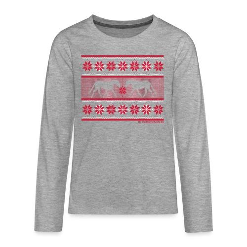 Ugly Sweater Pferde - Teenager Premium Langarmshirt