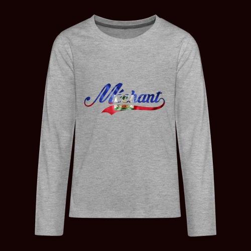 méchant drapeau haïtien - T-shirt manches longues Premium Ado