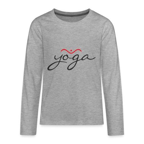 Yoga Balancing Typography And Emblem 1 - Teenager Premium Langarmshirt