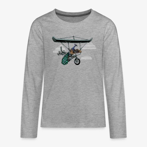 Flight of the Peacock - Teenagers' Premium Longsleeve Shirt