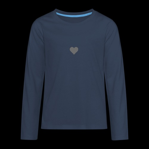 hearth design tee - Teenager premium T-shirt med lange ærmer