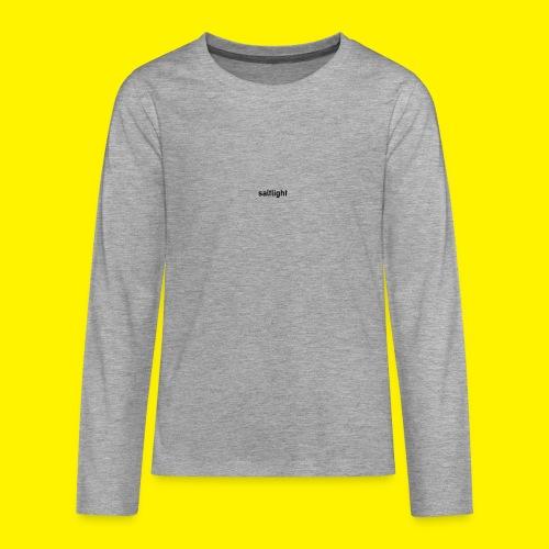 Saltlight // Black - Black - Teenagers' Premium Longsleeve Shirt