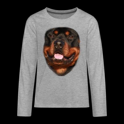 rotweiller face - Teenagers' Premium Longsleeve Shirt