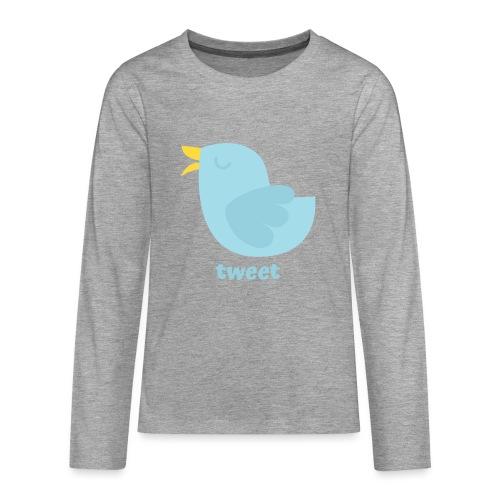 tweet - Teenager premium T-shirt med lange ærmer