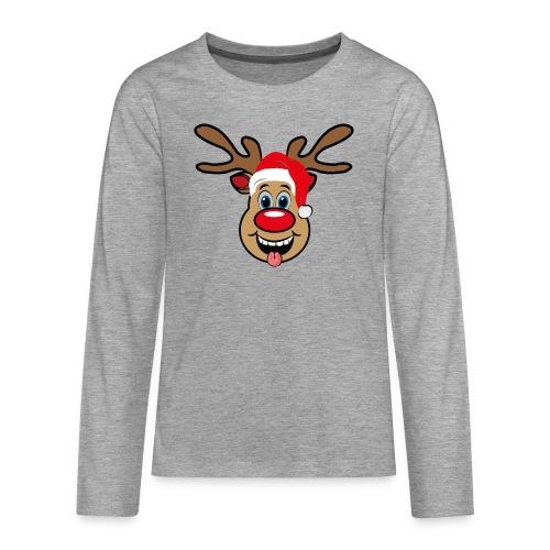 Team Rudolph Rudi Reindeer - Teenager Premium Langarmshirt