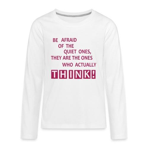 THINK - Teenager Premium Langarmshirt