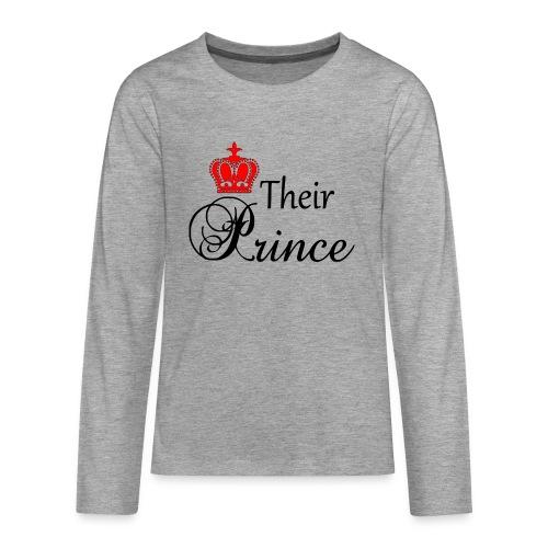 Their Prince - Långärmad premium T-shirt tonåring