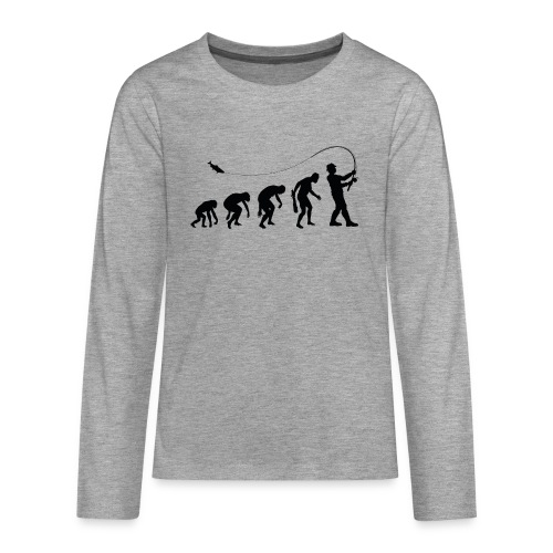Evolution of fischers - Teenager Premium Langarmshirt